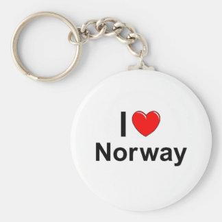 I Love Heart Norway Key Ring