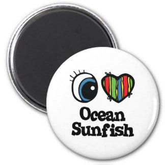 I Love (Heart) Ocean Sunfish Magnet