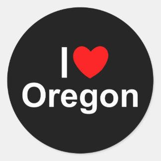 I Love (Heart) Oregon Classic Round Sticker