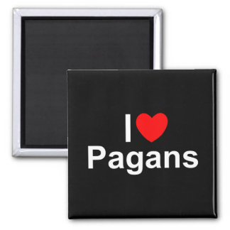 I Love (Heart) Pagans Square Magnet
