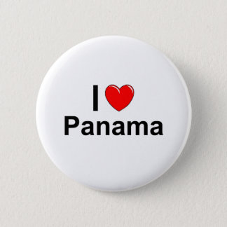 I Love Heart Panama 6 Cm Round Badge