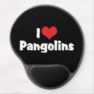 I Love Heart Pangolins - Pangolin Lover Gel Mouse Pad