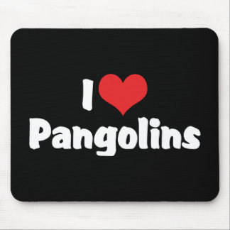 I Love Heart Pangolins - Pangolin Lover Mouse Pad