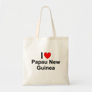 I Love Heart Papau New Guinea Tote Bag