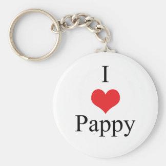 I Love (Heart) Pappy Key Ring