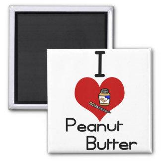I love-heart peanut butter refrigerator magnet