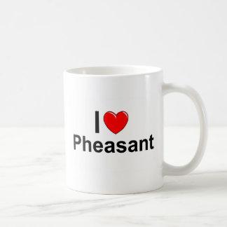 I Love Heart Pheasant Coffee Mug