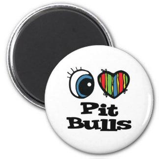 I Love (Heart) Pit Bulls Magnet