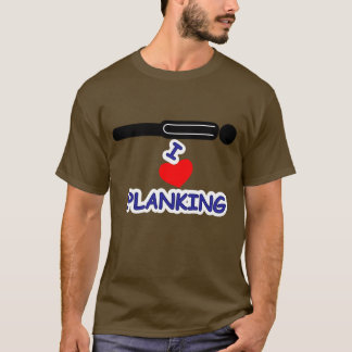 I Love (Heart) Planking T-Shirt