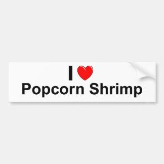 I Love Heart Popcorn Shrimp Bumper Sticker