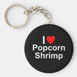 I Love Heart Popcorn Shrimp Key Ring