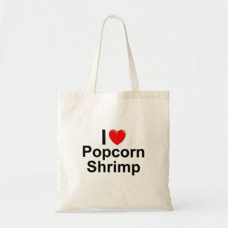 I Love Heart Popcorn Shrimp Tote Bag