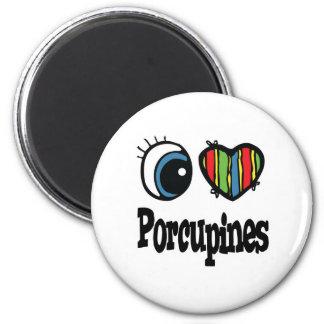 I Love (Heart) Porcupines Magnet