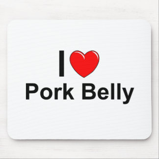 I Love Heart Pork Belly Mouse Pad