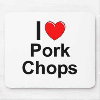I Love Heart Pork Chops Mouse Pad