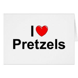 I Love (Heart) Pretzels Card