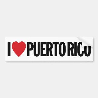"I Love Heart Puerto Rico 11"" 28cm Vinyl Decal Bumper Sticker"