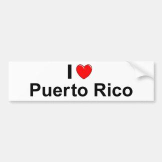 I Love Heart Puerto Rico Bumper Sticker