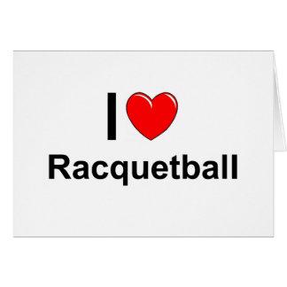 I Love Heart Racquetball Card