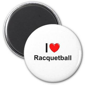 I Love Heart Racquetball Magnet