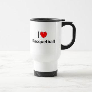 I Love Heart Racquetball Travel Mug