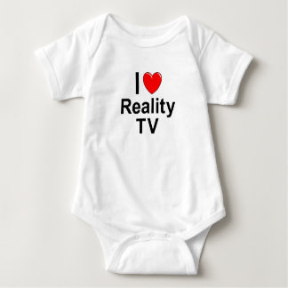 I Love Heart Reality TV Baby Bodysuit