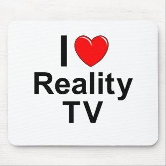 I Love Heart Reality TV Mouse Pad