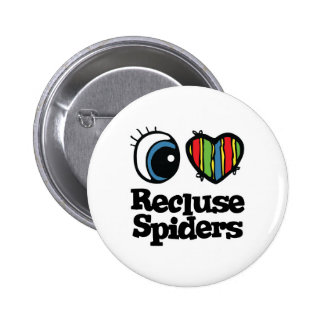 I Love Heart Recluse Spiders Pin