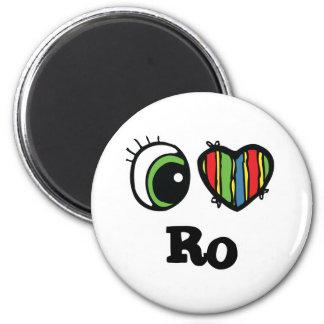 I Love (Heart) Ro 6 Cm Round Magnet