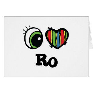 I Love Heart Ro Card