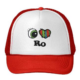 I Love (Heart) Ro Mesh Hats