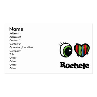 I Love (Heart) Rochele Pack Of Standard Business Cards