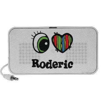 I Love (Heart) Roderic iPod Speakers