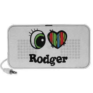 I Love (Heart) Rodger iPod Speaker