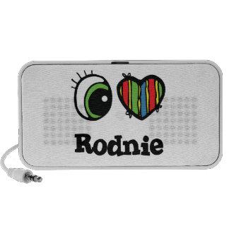 I Love (Heart) Rodnie Laptop Speakers