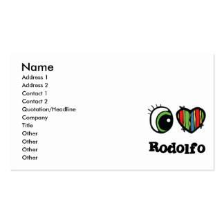 I Love (Heart) Rodolfo Pack Of Standard Business Cards