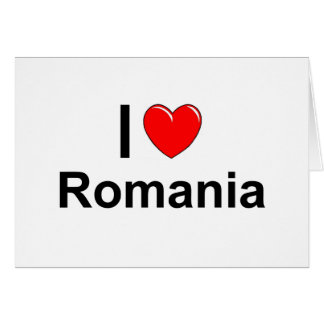 I Love Heart Romania Card