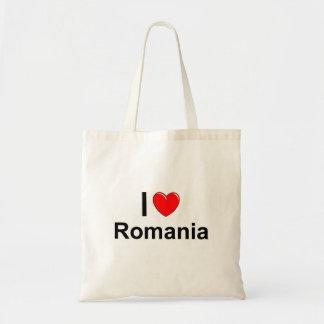 I Love Heart Romania Tote Bag