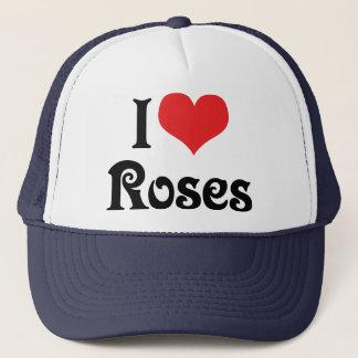 I Love Heart Roses - Flower Garden Lover Trucker Hat
