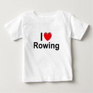 I Love Heart Rowing Baby T-Shirt