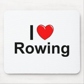 I Love Heart Rowing Mouse Pad