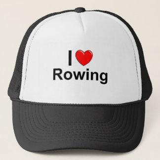 I Love Heart Rowing Trucker Hat