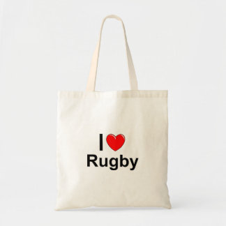 I Love Heart Rugby Tote Bag