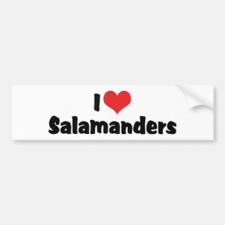 I Love Heart Salamanders Bumper Sticker