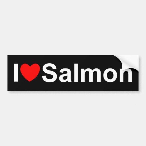 I Love (Heart) Salmon Bumper Sticker
