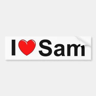 I Love (Heart) Sam Bumper Sticker
