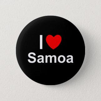 I Love Heart Samoa 6 Cm Round Badge