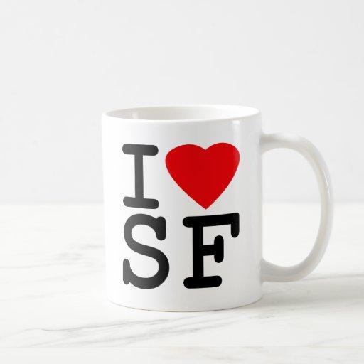 I Love Heart San Francisco Coffee Mugs