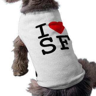 I Love Heart San Francisco Sleeveless Dog Shirt