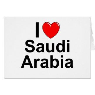 I Love Heart Saudi Arabia Card